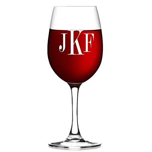 Monogram Etched Glass (Personalized wine Glass, Monogram Wine Glass, Etched Wine/ Flute Glass, Housewarming Gift , Wedding GIfts)