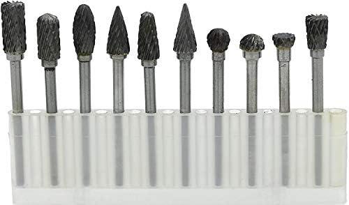超硬バー タングステンバー 10本セット ダイヤモンドカット シャンク径 3mm 金物 切削 研磨
