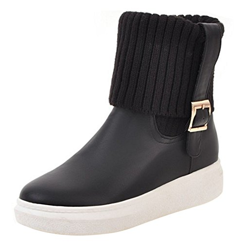 Pull Black Boots On Women COOLCEPT g6UXW