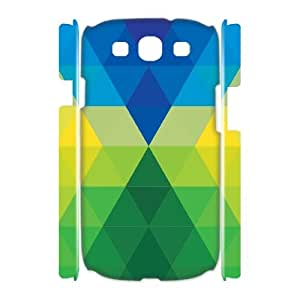 Qxhu Colorful Rhombus Protective Snap On Hard Plastic Case for Samsung Galaxy S3 I9300 3D case