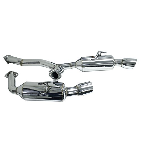 - DC Sports DCS6011 Mitsubishi Evolution Evo X Polished Stainless Steel Dual Canister Cat-Back Exhaust System