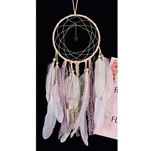 Workings Wind Chime Girl Heart Hanging Ornaments Cute Soft Sier White Room Decoration,Without Light ()
