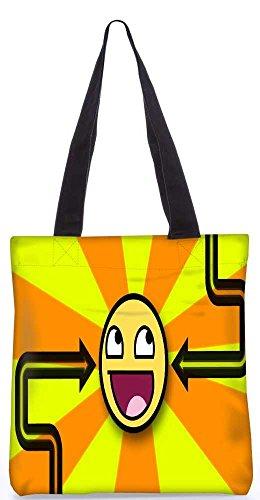 """Snoogg Orange_Is Fantastischen Tragetasche 13,5 X 15 In """"Shopping-Dienstprogramm Tragetasche Aus Polyester Canvas"""