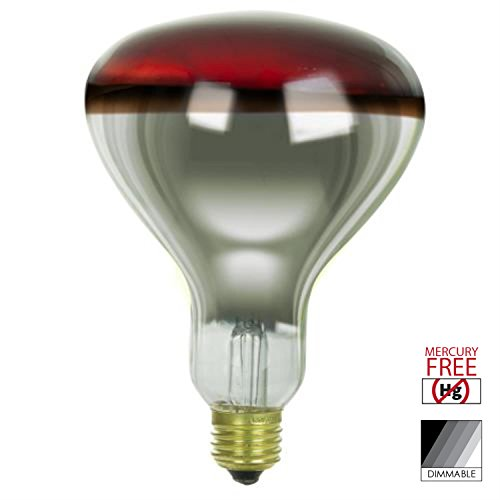 Sunlite 250 Watt R40 Incandescent Heat Lamp Bulb, Medium Base, Red, Dimmable, Ideal for Food Preparation Areas, Saunas, Infrared Light Therapy, Salons, Bathrooms, Animal & Reptile encosures and More by Sunlite