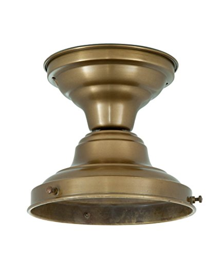 B&P Lamp Short School House Fixture, Antique Brass Finish, 4 Inch Fitter by B&P Lamp