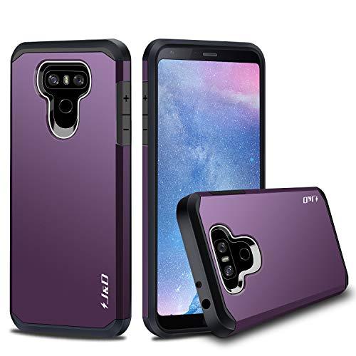 J&D Case Compatible for LG G6 / LG G6 Plus Case, Heavy Duty [Dual Layer] Hybrid Shock Proof Protective Rugged Bumper Case for LG G6 Plus, LG G6 Case - Purple