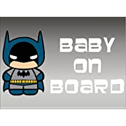 Batman Baby on Board, decal, vinyl, sticker, graphic