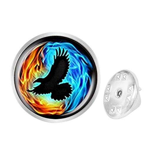 (Custom Lapel Pin Brooches Colorful Twin Flames with Raven Banquet Badge Pins Trendy Accessory Jacket T-Shirt Bag Hat Shoe)