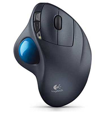 Logitech M570 Wireless Trackball Mouse - Ergonomic Design with Sculpted Right-hand Shape, Compatible with Apple Mac and Microsoft Windows Computers, USB Unifying Receiver, Dark Gray