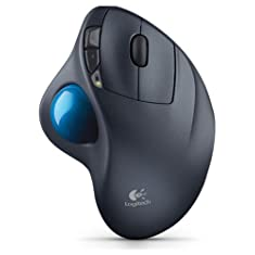 Logitech M570 Wireless Trackball, Computer Wireless Mouse, Long Range Wireless Mouse