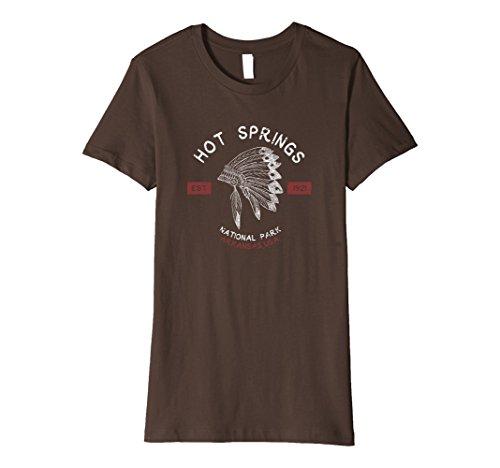 Womens Hot Springs National Park T Shirt Arkansas Vintage Large Brown