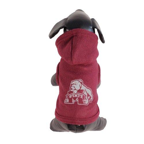 NCAA Mississippi State Bulldogs Polar Fleece Hooded Dog Jacket, Large