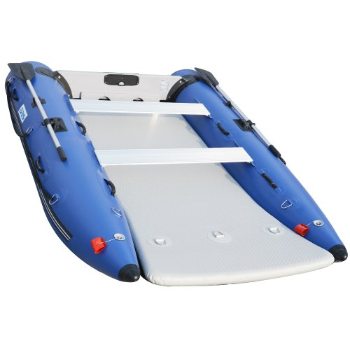 BRIS 11 ft Inflatable Catamaran Inflatable Boat Inflatable Dinghy Mini Cat  Boat Blue - MasterBasser