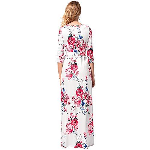 Impression Haute Manche Hipster White Longue Robe Femmes Jupe Rue Taille Ceinture Vtements De wqX4OTSt