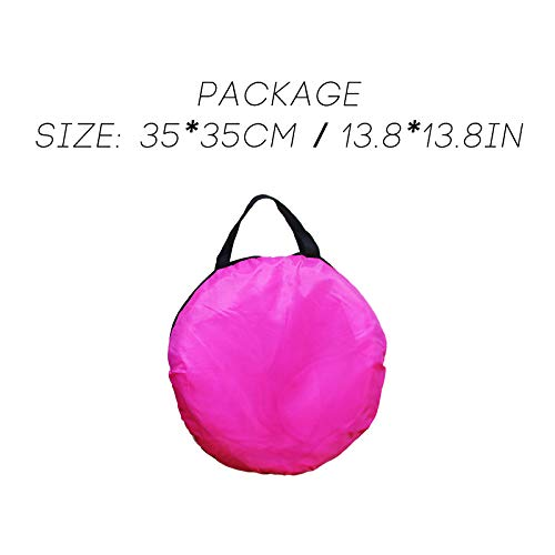 VIPITH Kid Outdoor Indoor Princess Play Tent Playhouse Ball Tent Pink