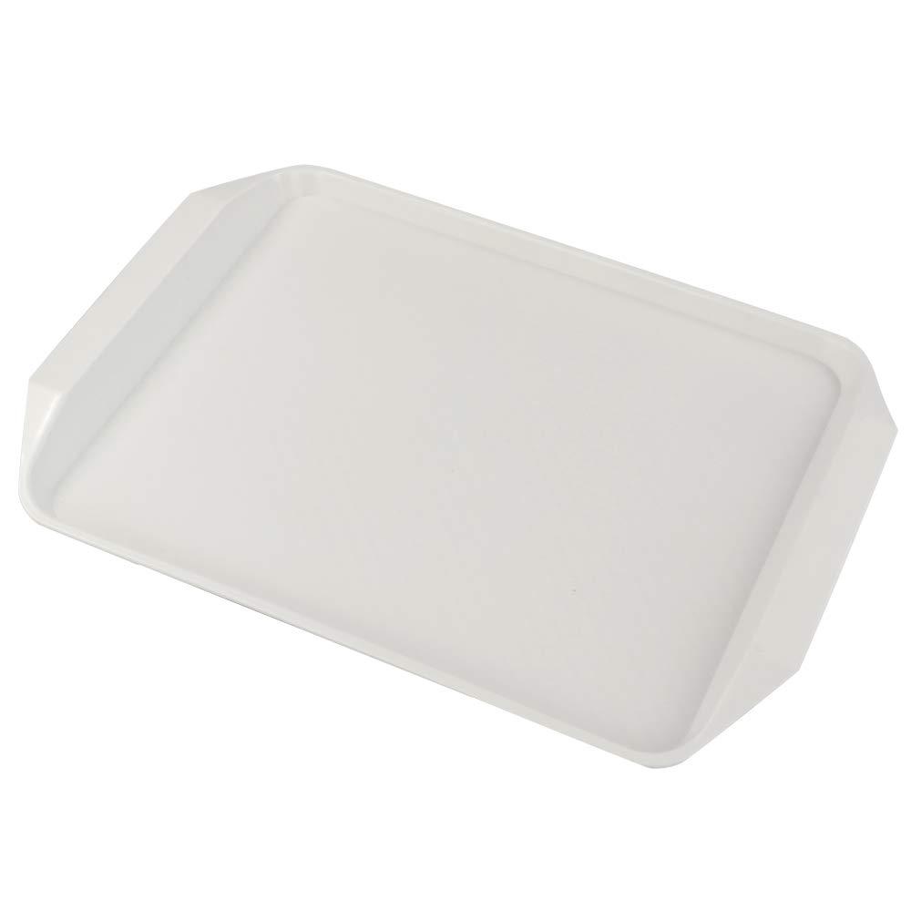Rectangular Ordate Bandeja para Servir de Pl/ástico Blanca 1 Paquete