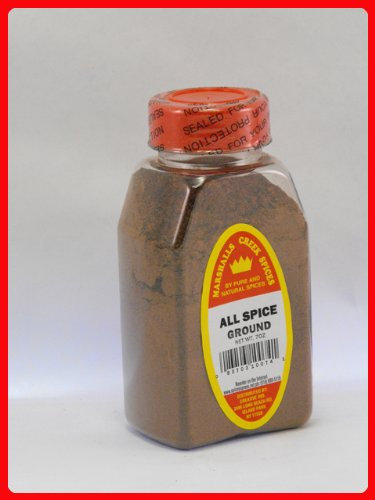 ALL SPICE GROUND FRESHLY PACKED IN LARGE JARS, spices, herbs, seasonings, 7 ounce