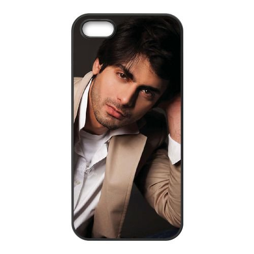 Fawad Khan 002 coque iPhone 4 4S cellulaire cas coque de téléphone cas téléphone cellulaire noir couvercle EEEXLKNBC25019