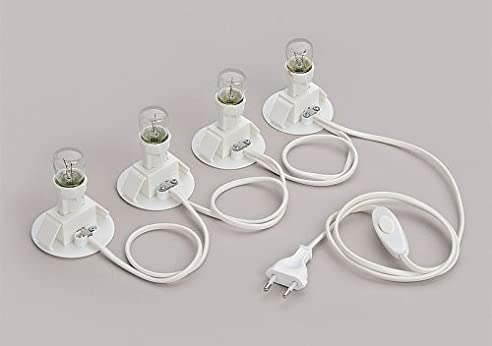 elektrische 4er Beleuchtung für 4 Lichthäuser WURM KG: Amazon.de ...