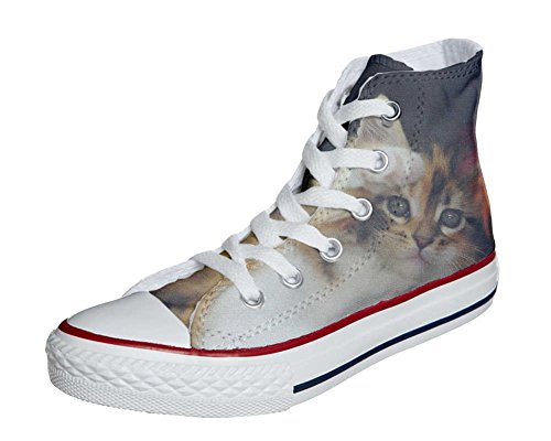 mys Converse All Star Customized - Zapatos Personalizados (Producto Artesano) Kitty