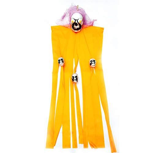 Gold Happy Halloween Creepy Hanging Ghost Props Door