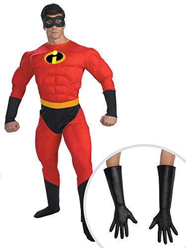 Mr Incredible Muscle Costume Kit Deluxe Adult XL with Gloves