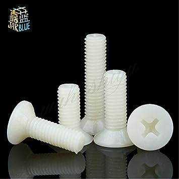 ; Length: 16mm Size: M8 10PCS Jimin/_DIN965 ISO7046 GB819 JISB1111F 100PCS M2.5 50pcs M3 M4 10PCS M5 M6 M8 M10 Flat head Phillips Screws Nylon Plastic Screw -