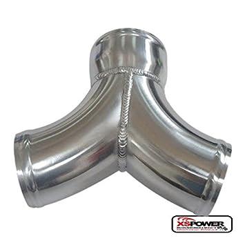 Y de aluminio tubo de admisión de aire Twin Turbo Intercooler de tuberías de doble 3