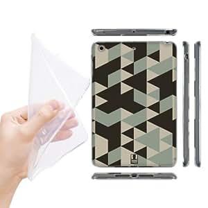 Head Case Designs Brown Geometric Camo Soft Gel Back Case Cover for Apple iPad mini with Retina Display iPad mini 3