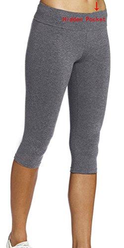 iLoveSIA Women's Capri Yoga Pant US Size L Grey