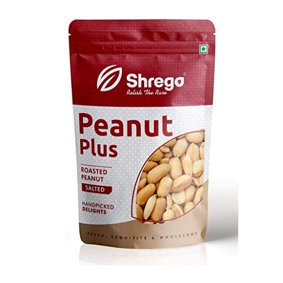 SHREGO Peanut Plus Roasted Peanuts Salted 400G (2x200G Vacuum Packed)
