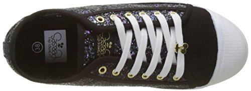 Le Temps des Cerises BASIC 02, Zapatillas Mujer Noir (glitter Black)