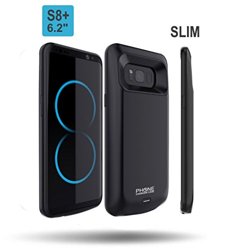 Galaxy S8 PLUS Battery Case, Phone Charger Case 5500mAh Slim External Rechargeable Battery Protective Charging Case. Use it as Extended Portable Power Bank Cover Pack for Samsung Galaxy S8 PLUS