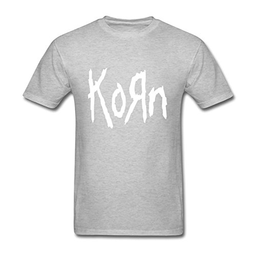 FQYPMC Man 100% Cotton Love Korn Ticket To Rock Tour Tshirts Grey S