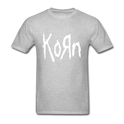 FQYPMC Man 100% Cotton Love Korn Ticket To Rock Tour Tshirts Grey S