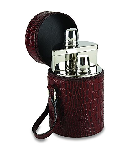 Double Flask Travel Set 2 20oz stainless steel flasks by Flask Set