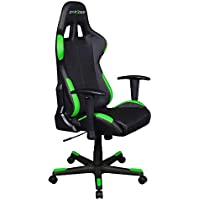 DXRacer OH/FD99/NE Black & Green Formula Series Gaming Chair High-back Ergonomic Home Office Adjustable Swivel Racing eSports Computer Chair with Lumbar Cushion and Headrest Pillow