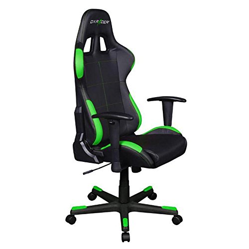 DXRacer OH/FD99/NE Black & Green Formula Series Gaming Chair High-back Ergonomic Home Office Adjustable Swivel Racing eSports Computer Chair with Lumbar Cushion and Headrest Pillow by DX Racer