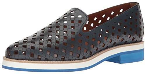 Aquatalia by Marvin K. Women's Zanna Perforated Calf Slip-on Loafer Navy GVhLpkTJ
