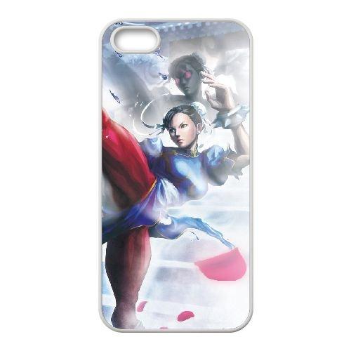 Street Fighter X Tekken 21 coque iPhone 5 5s cellulaire cas coque de téléphone cas blanche couverture de téléphone portable EEECBCAAN03661