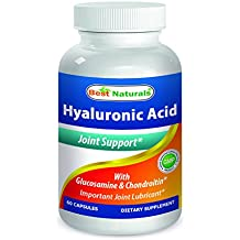 Best Naturals Hyaluronic Acid 100 mg 60 Capsules - Support Healthy Joints and Youthful Skin