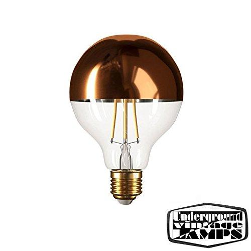 bombilla LED Globo d.95 Cúpula cobre E27 7 W 2700 K 806lm Borrar Regulador: Amazon.es: Iluminación