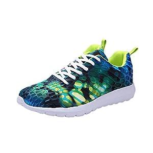 Mysky Fashion Unisex Women Men Leisure Camouflage Comfortable Cross Tie Mesh Running Sport Shoes Sneakers