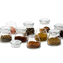 Libbey Spice Jar with Lid, 4.5-Ounce, Clear, Set of 12
