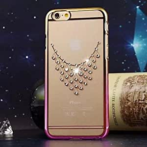 WQQ BIG D Necklace Pattern Diamond Back Cover for iPhone 6