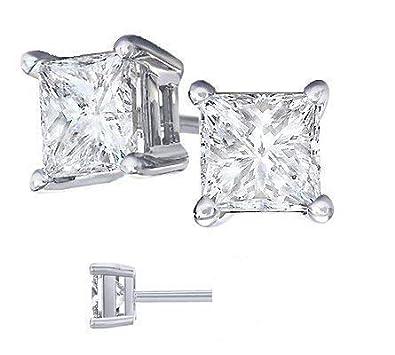 81d563959 Body Fashion Surgical Steel Square Basket Set Crystal Diamond Unisex Men's  Stud Earrings,6mm