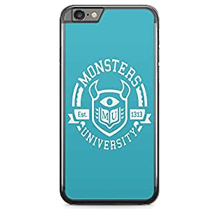 Loud Universe Monster University Logo iPhone 6 Case Blue Monsters Inc Movie iPhone 6 Cover with Transparent Edges