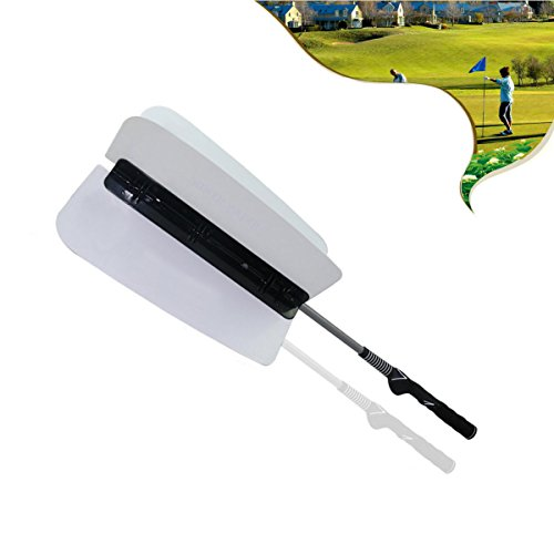 MarketBoss Golf Wind Swing Fan Resistance Trainer Golf Swing Trainer (White)