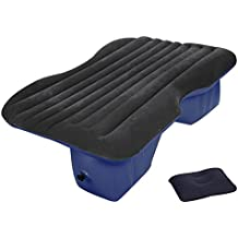 Ancheer Multifunctional Inflatable Car Mattress, Car Inflation Bed, Travel Air Bed Camping Car Back Seat , Extra Mattress,with Repair Pad,Air Pump For Travel (Blue)