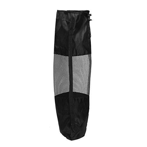 (eDealMax épaule réglable Sangle de Yoga Pilates Mat Pad Mesh net Porte-Sac Noir)